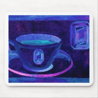 Coffee Gems Blue CricketDiane Coffee Art Mouse Pad