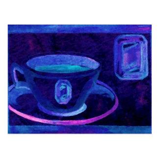 Coffee Gems Blue CricketDiane Coffee Art Postcard