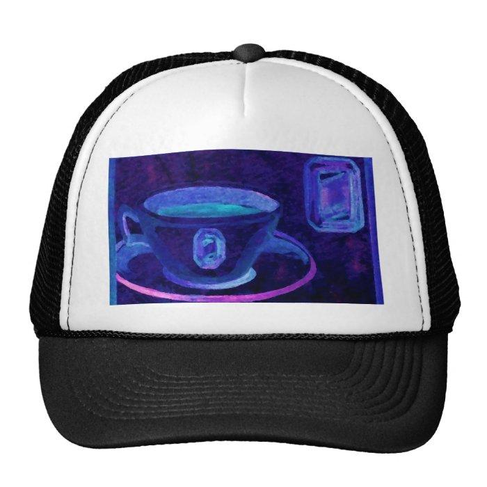 Coffee Gems Blue CricketDiane Coffee Art Trucker Hat