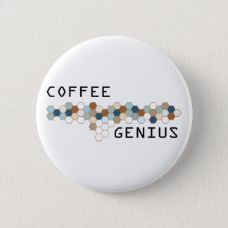 Coffee Genius Pinback Button