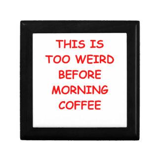 COFFEE TRINKET BOX
