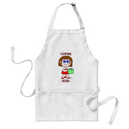 COFFEE GIRL - BROWN HAIR APRON