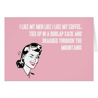 Coffee Girl Card