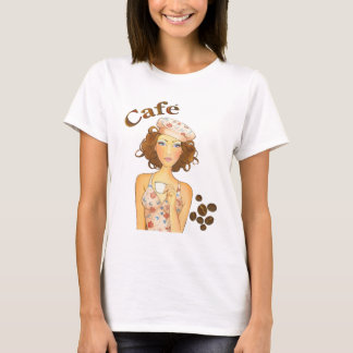 Coffee Girl Drinking Espresso T-Shirt