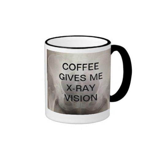COFFEE GIVES ME X-RAY VISION COFFEE MUGS