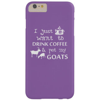Coffee & Goats Barely There iPhone 6 Plus Case