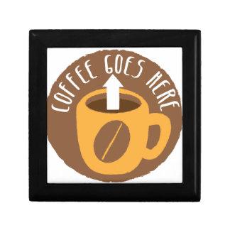 Coffee Goes here! Jewelry Box