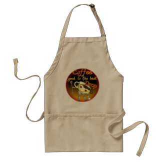 Coffee good to the last drop by Valxart.com Adult Apron