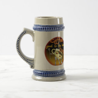 Coffee good to the last drop by Valxart.com Beer Stein