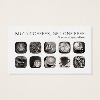 coffee grams loyalty business card