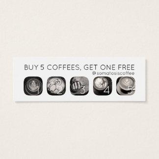 coffee grams loyalty mini business card