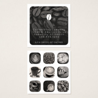 coffee grams loyalty square business card