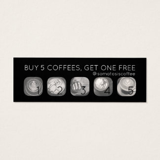 coffee grams punch mini business card