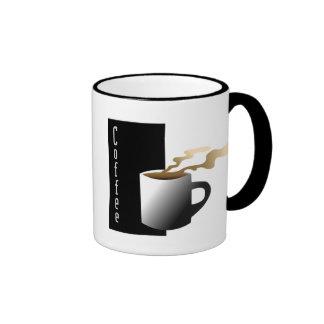 Coffee Graphic B&W Coffee Ringer Coffee Mug