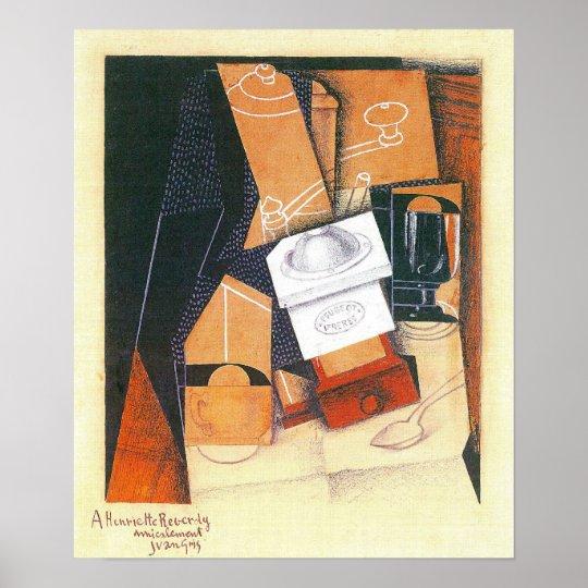 Coffee Grinder by Juan Gris, Vintage Cubism Art Poster