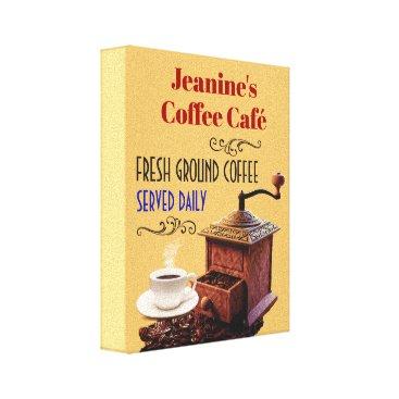 "Coffee Themed Coffee Grinder Coffee Cafe 8""X10"" Canvas Print"