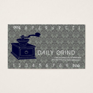 Coffee Grinder / Loyalty Punch Business Card
