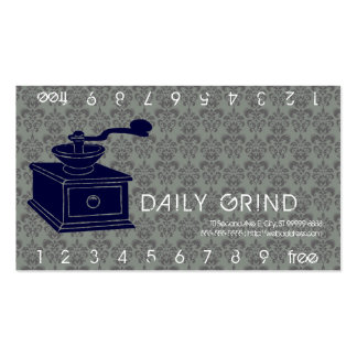 Coffee Grinder / Loyalty Punch Double-Sided Standard Business Cards (Pack Of 100)