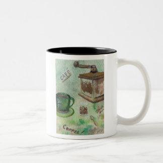 Coffee Grinder Mug folk art by cricketdiane