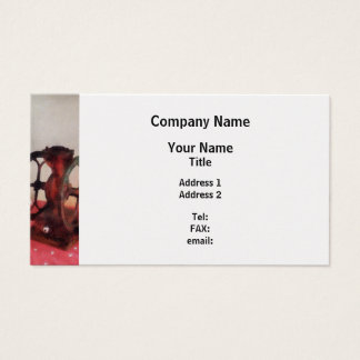 Coffee Grinder on Red Tablecloth Business Card