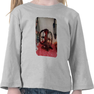 Coffee Grinder on Red Tablecloth Tee Shirt