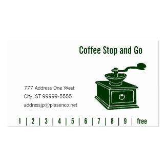 Coffee Grinding Punch & Loyalty Business Card