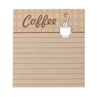 Coffee Grocery Shopping List Kitchen Notepad Gift