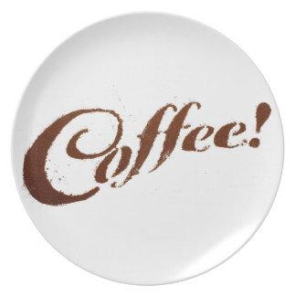 Coffee Grounds Coffee - Plate