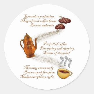 Coffee Haiku Sticker