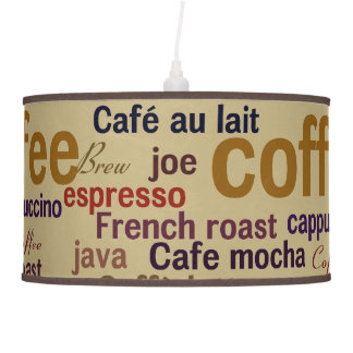 Coffee Hanging Light Ceiling Lamp