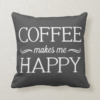 Coffee Happy Pillow - Assorted Styles & Colors
