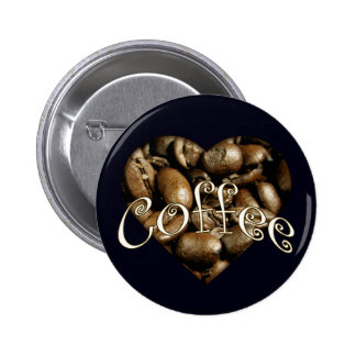 Coffee Heart 2 Inch Round Button