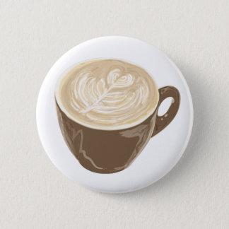 coffee heart art button