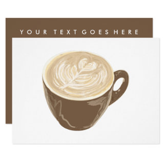 coffee heart art card