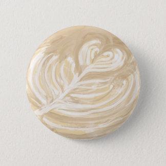 coffee heart art pinback button