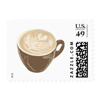 coffee heart art postage