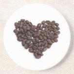 Coffee heart beverage coaster