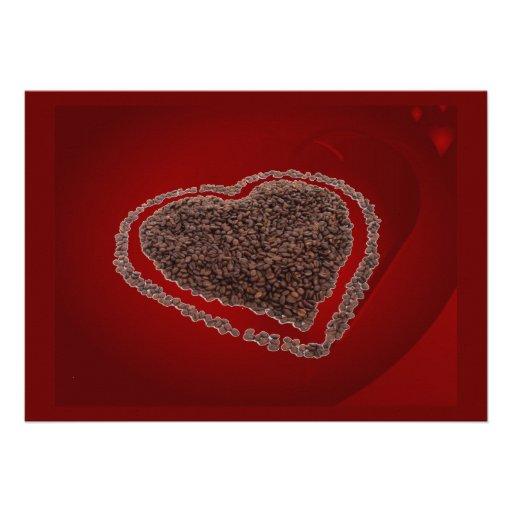 Coffee Heart Invitation