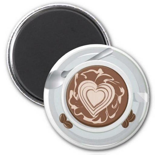 Coffee Heart Magnet