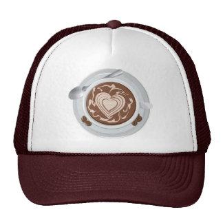 Coffee Heart Mesh Hat