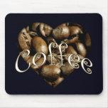 Coffee Heart Mouse Mats
