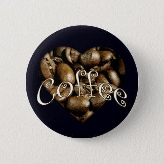 Coffee Heart Pinback Button