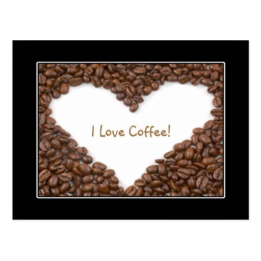 Coffee Heart Postcard