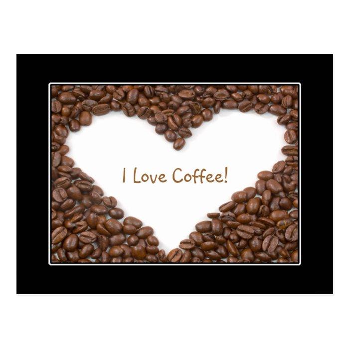 Coffee Heart Postcard