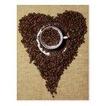 Coffee heart postcards
