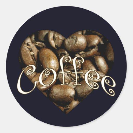 Coffee Heart Stickers