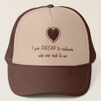 coffee heart trucker hat