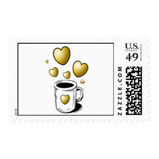 Coffee Hearts Stamps