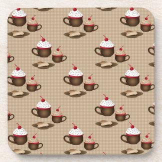 Coffee, Hot Cocoa, Dessert Beverage Coaster