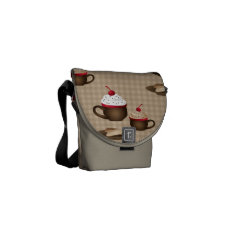 Coffee / Hot Cocoa Dessert Gifts And Bags Messenger Bag at Zazzle